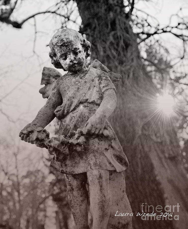 Angels Photograph - Angels Will Watch Over You by Artist and Photographer Laura Wrede