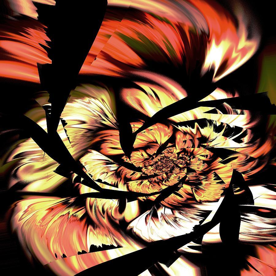 Abstract Digital Art - Anger Management by Anastasiya Malakhova