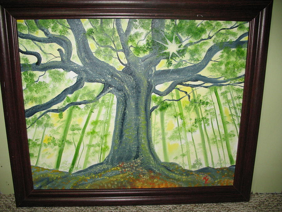 Angies Tree Painting by Kathy Livermore