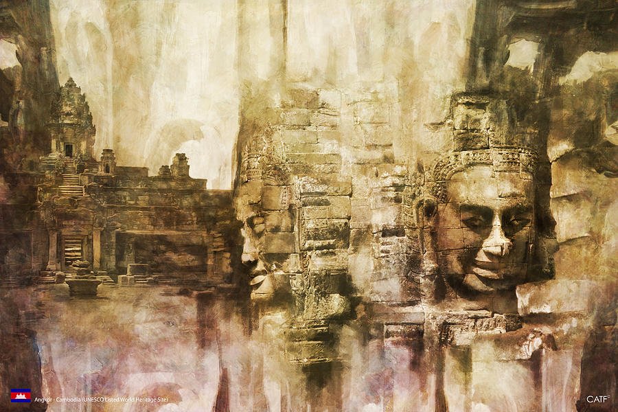 Angkor Painting by Catf