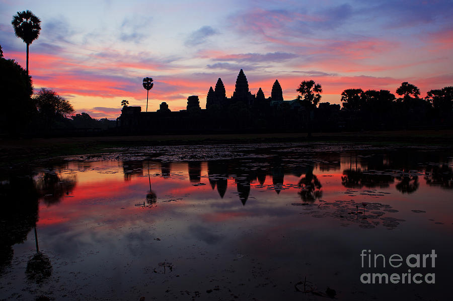 Angkor Wat Photograph - Angkor Wat At Sunrise by Pete Reynolds