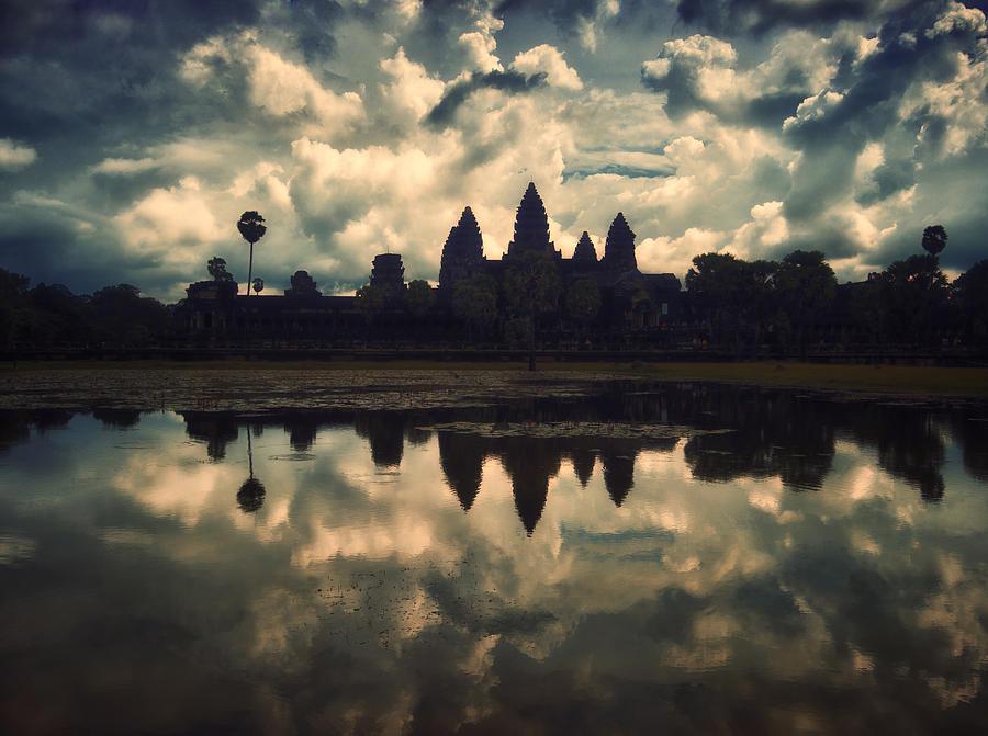 Angkor Wat Photograph - Angkor Wat Sunset by Kim Andelkovic