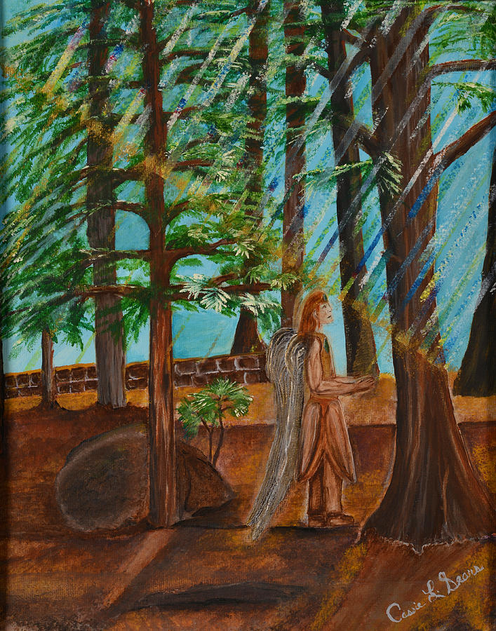Sears Painting - Angle In Idyllwild by Cassie Sears