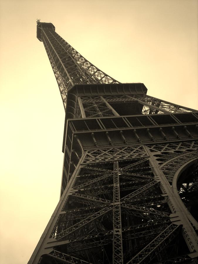 Eiffel Tower Photograph - Angle Of The Tower by Steven  Taylor