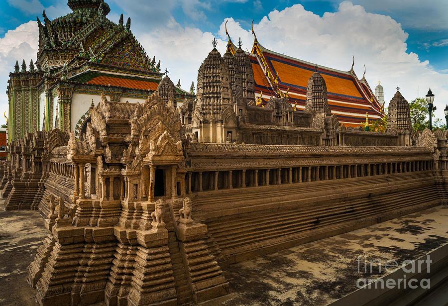 Angkor Wat Photograph - Angor Wat Miniature by Inge Johnsson