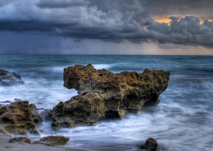 Atlantic Photograph - Angry by Debra and Dave Vanderlaan