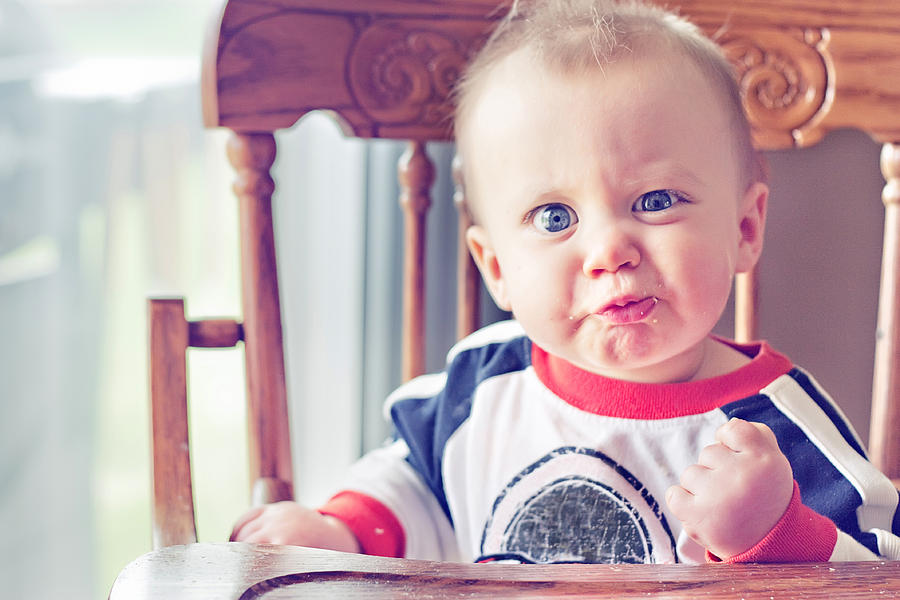 Angry face boy Photograph by Lindy Christopher