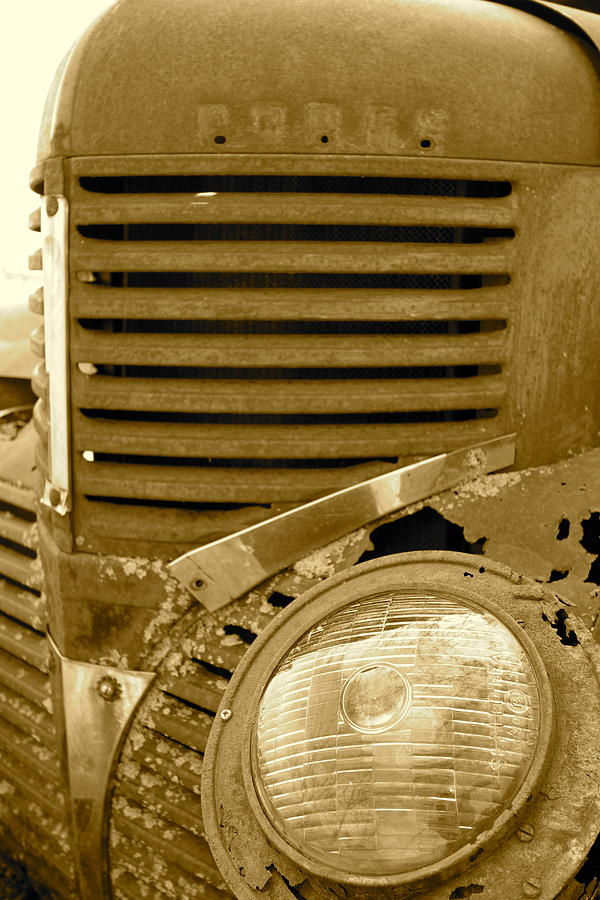 Old Truck Photograph - Angry Ol Man by Artist Orange