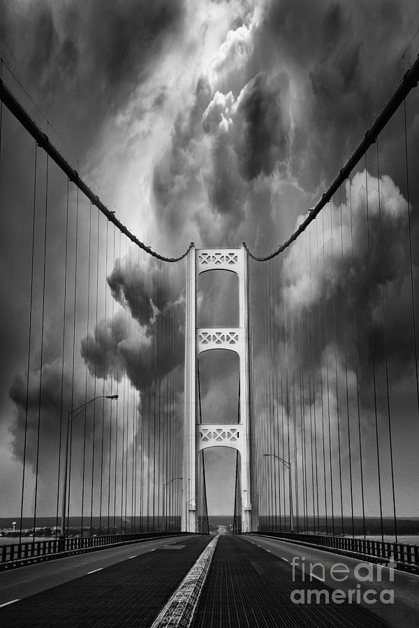 Mackinaw Photograph - Angry Skies by Todd Bielby