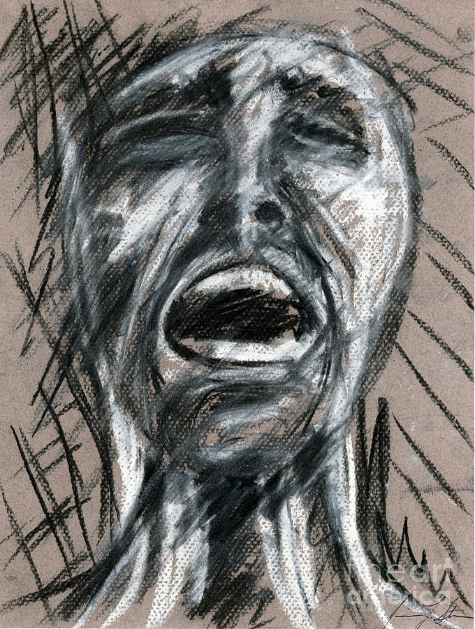 Abstract Drawing - Anguish by Jessica Sturges