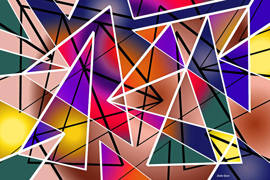 Triangle Digital Art - Angular by Stephen Younts