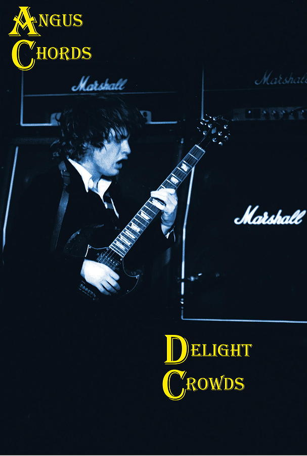 Angus Young Photograph - Angus Chords Delight Crowds In Blue by Ben Upham