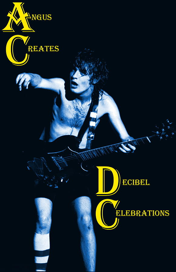 Angus Young Photograph - Angus Creates Decibel Celebrations In Blue by Ben Upham