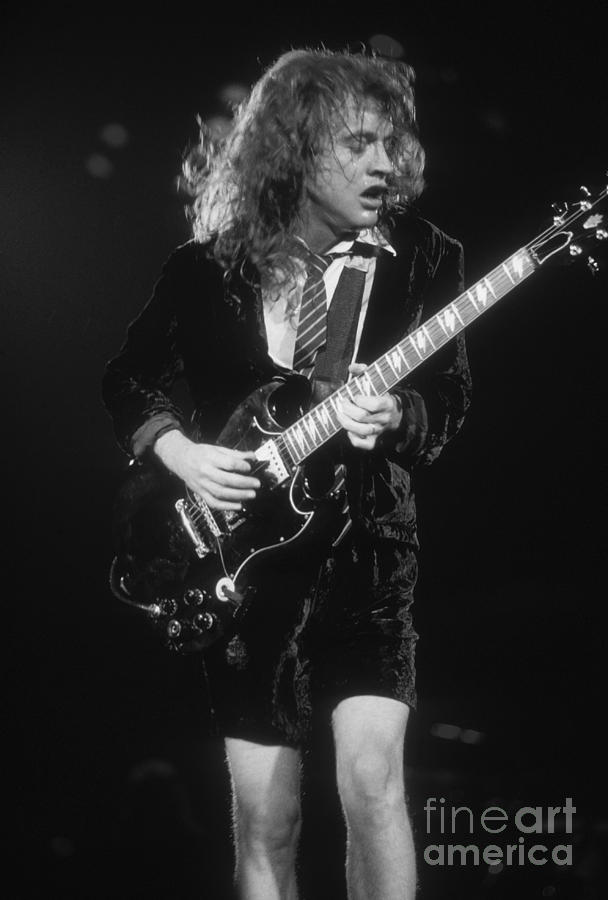 Angus Young Photograph - Angus Young by David Plastik