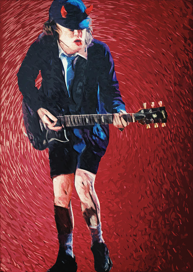 Angus Young Painting - Angus Young by Zapista OU