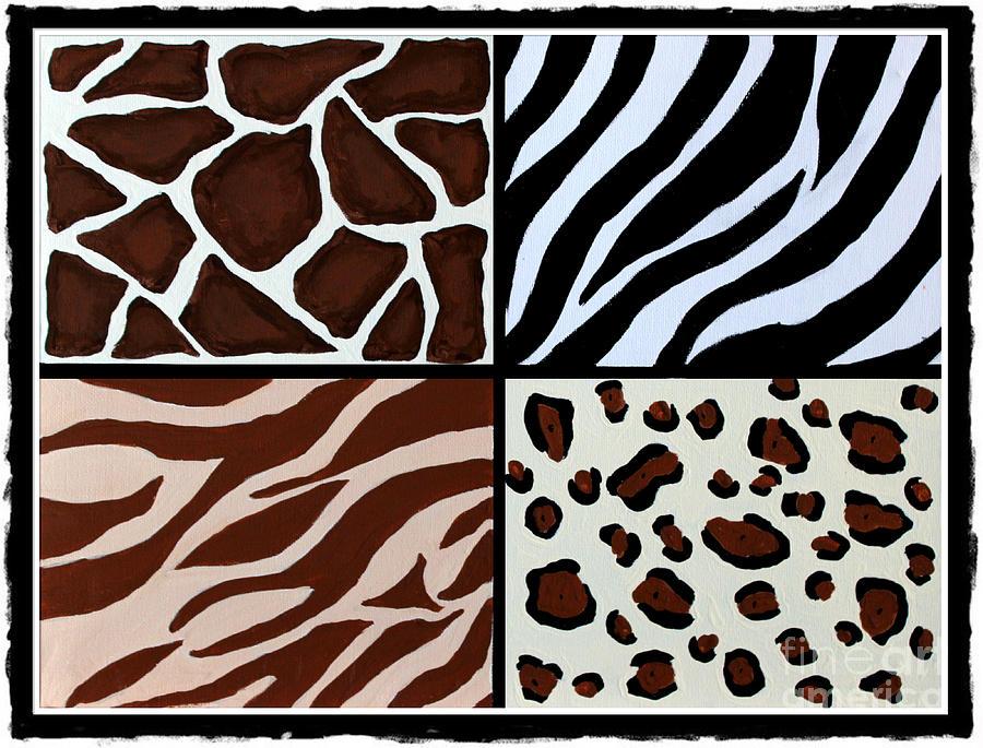 Animal Patterns Zebra Giraffe Leopard Tiger