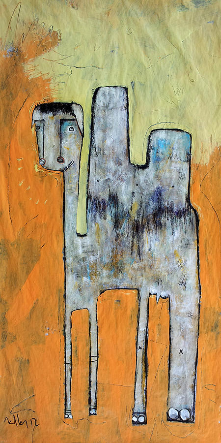 Abstract Painting - Animalia Camelus 1 by Mark M  Mellon