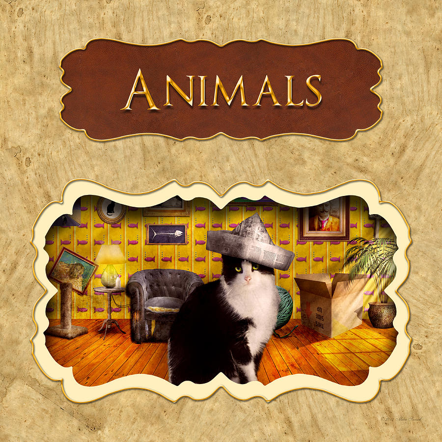 Animal Photograph - Animals Button by Mike Savad