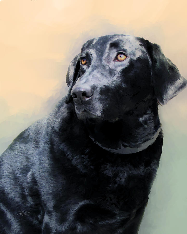 Dog Painting - animals - dogs- Loyal Friend by Ann Powell