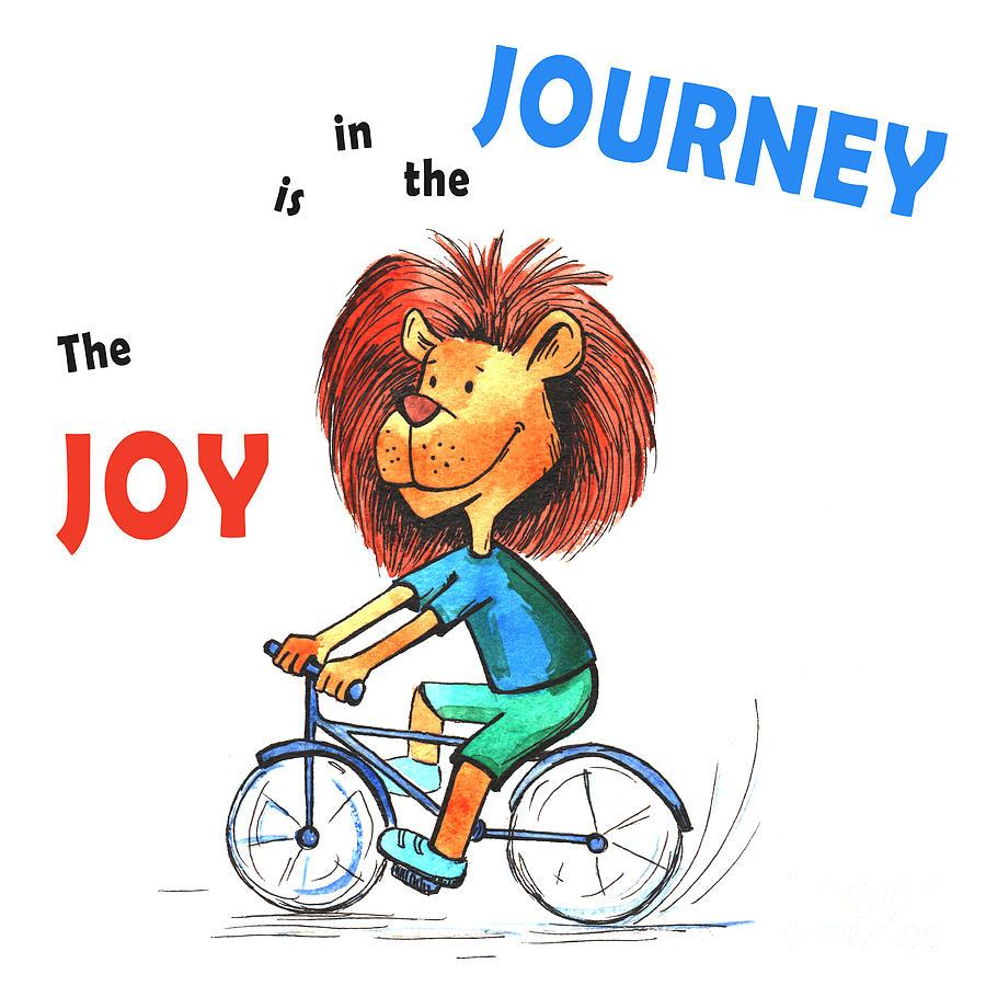 Anime Cyclist Lion Joy Is In The Journey Digital Art By Jolanta