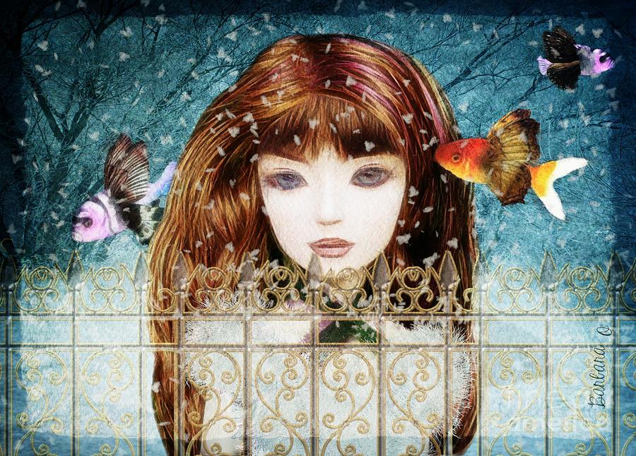 Girl Digital Art - Aniolina Felicslawa by Barbara Orenya