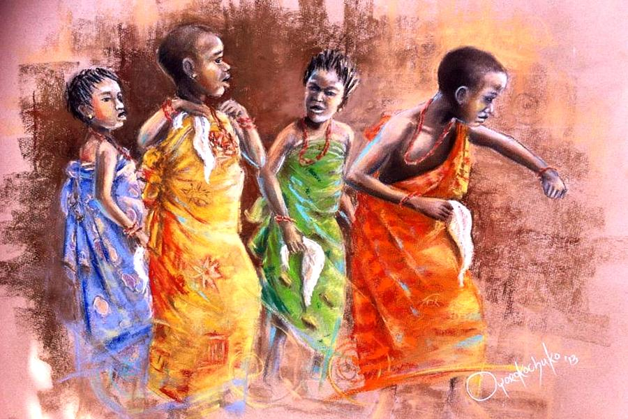 Contemporary Painting - Ankara Manifest by Oyoroko Ken ochuko