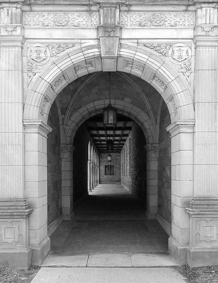 Ann Arbor Photograph - Ann Arbor Michigan Archway by Phil Perkins