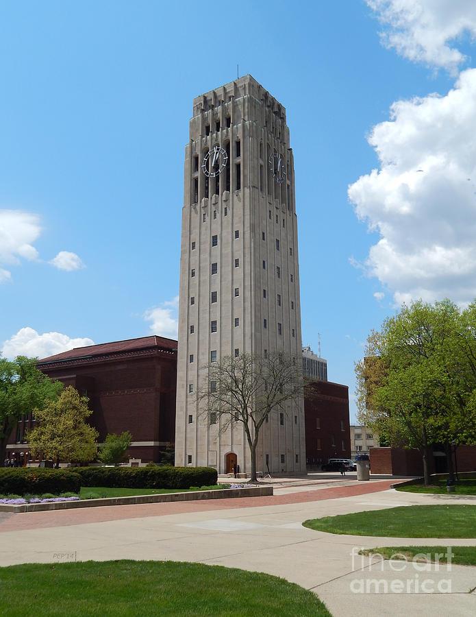 Ann Arbor Photograph - Ann Arbor Michigan Clock Tower by Phil Perkins