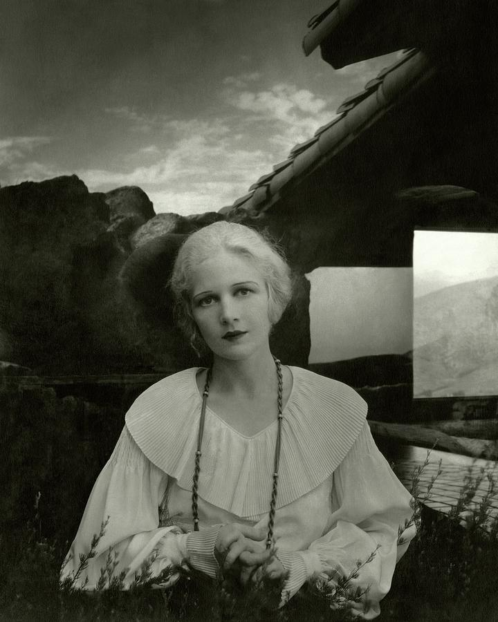 Ann Harding Wearing A Blouse Photograph by Edward Steichen