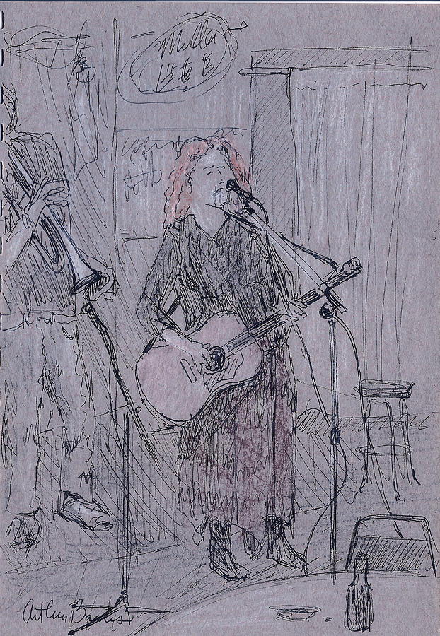 Musicians Painting - Ann Singing by Arthur Barnes