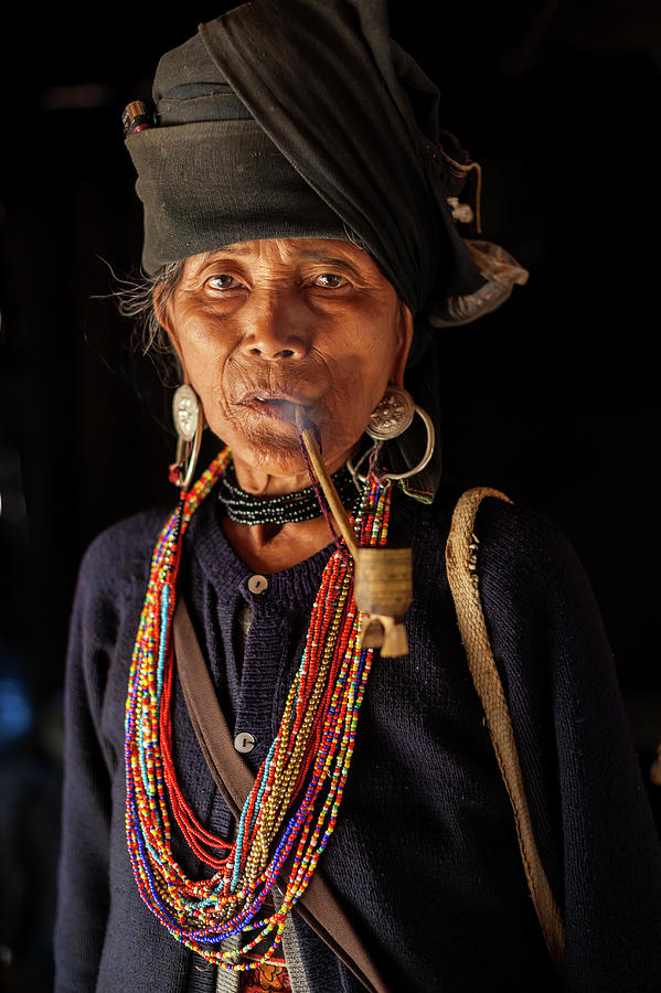 Ann Tribe Woman, Kyaing Tong, Golden Photograph by Peter Adams