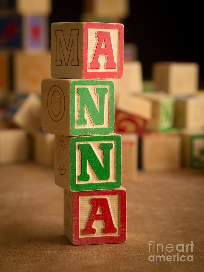 Alphabet Photograph - Anna - Alphabet Blocks by Edward Fielding