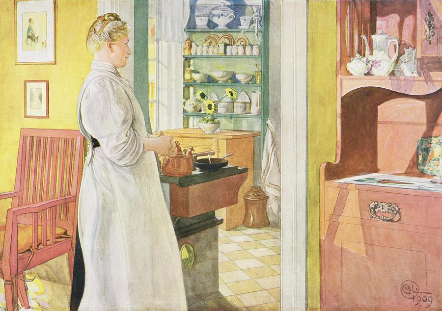 Cook Painting - Anna Arnbom , Pub. In Lasst Licht Hinin by Carl Larsson