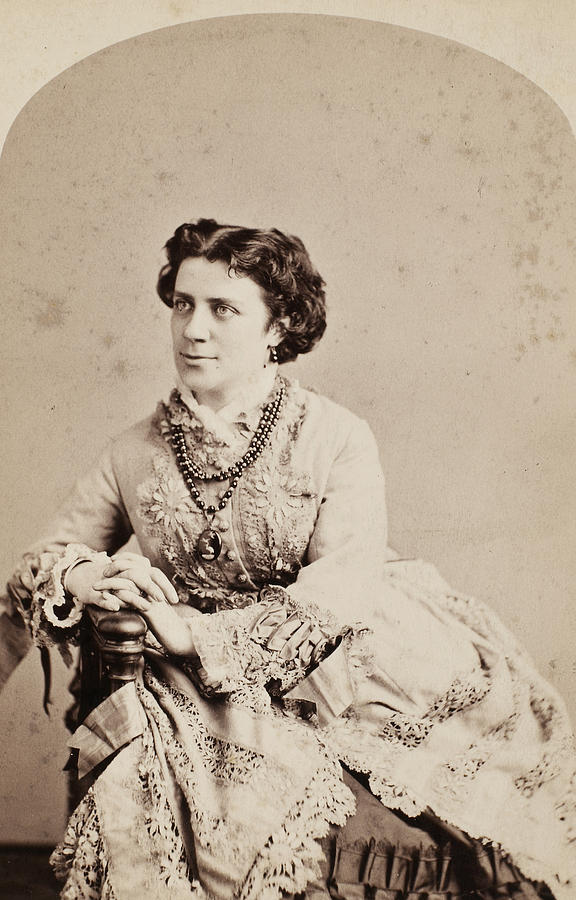 19th Century Photograph - Anna Elizabeth Dickinson (1842-1932) by Granger