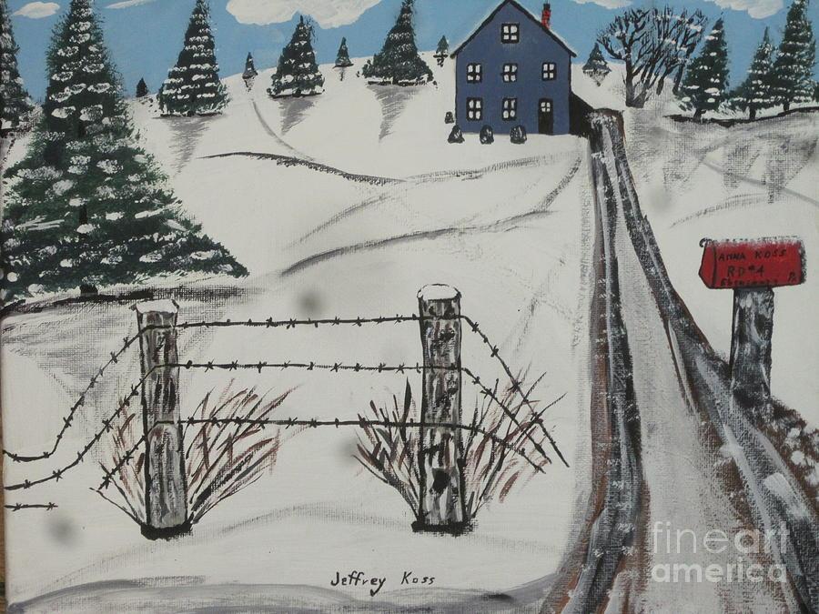 Landscape Painting - Anna Koss Farm by Jeffrey Koss