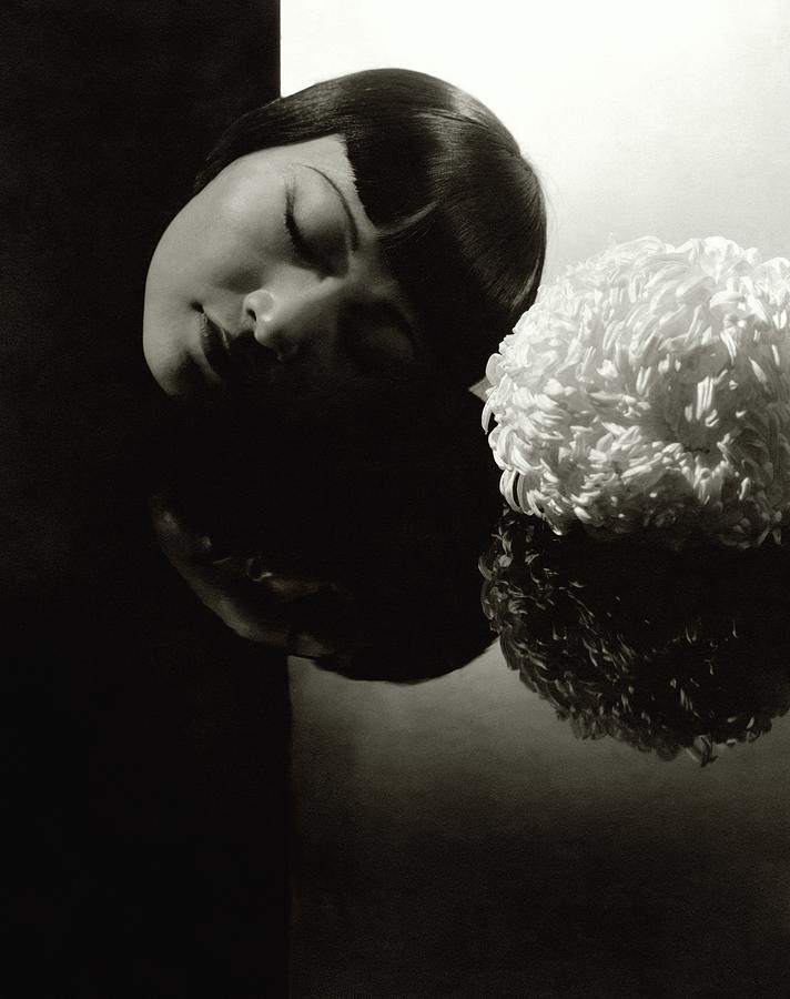 Anna May Wong Resting Her Head Photograph by Edward Steichen