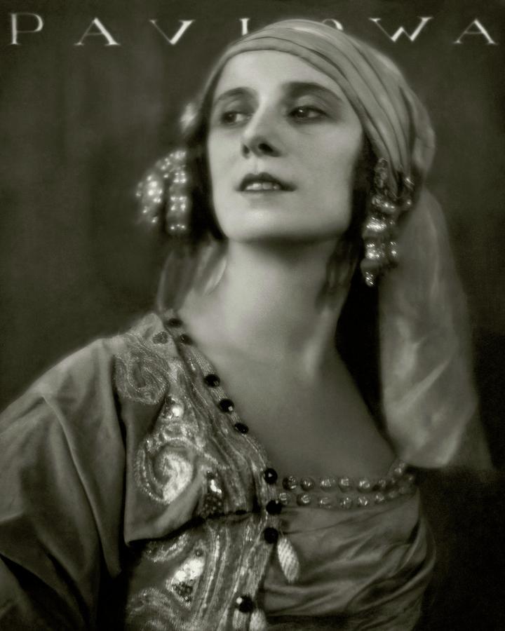 Anna Pavlova Wearing An Ornate Dress Photograph by Eugene Hutchinson