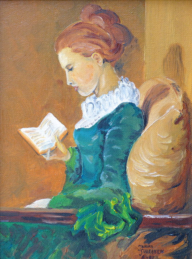 People Painting - Anna Reading by Janina  Suuronen