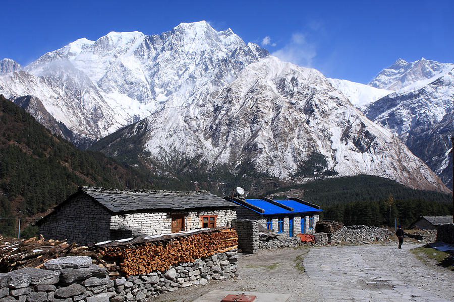 Nepal Photograph - Annapurna Mountain View, Nepal by Aidan Moran