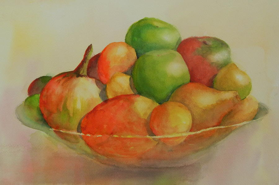 Fruit Painting - Annas Fruit Bowl by Dorothy Nalls