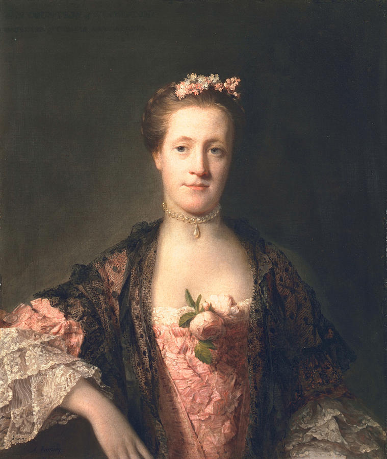 Female Painting - Anne Garth-turnour, Baroness Winterton by Allan Ramsay