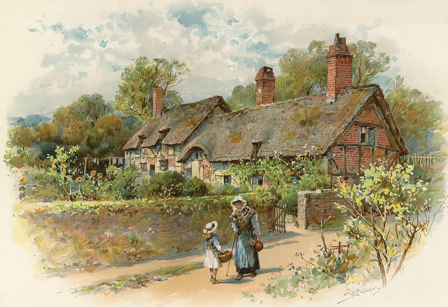 Anne Hathaway S Cottage At Shottery By William Stephen Coleman