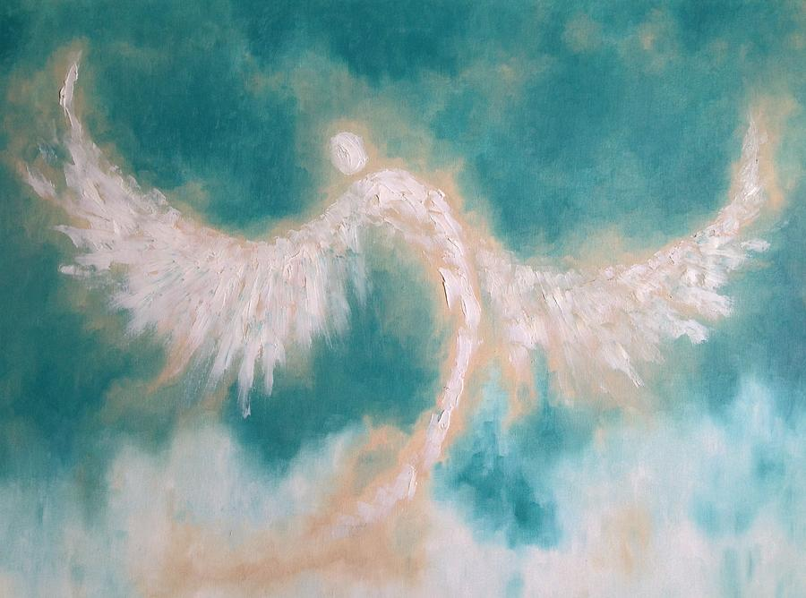 Angel Painting - Annes Angel by Andi Oakes