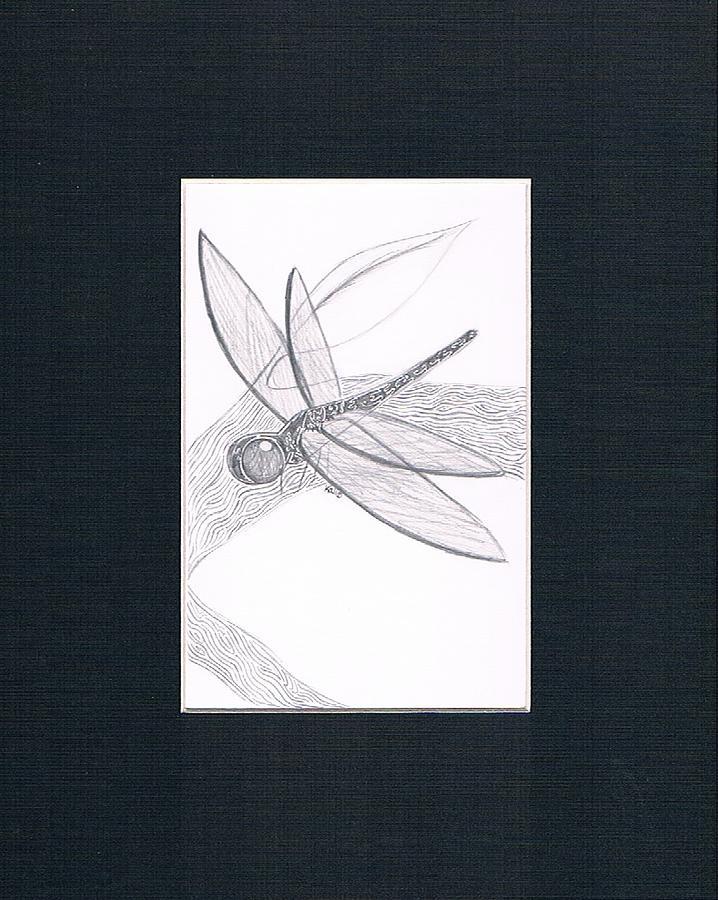 Dragonfly Drawing - annie  by Kali Kardsbykali