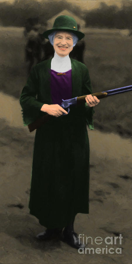 Celebrity Photograph - Annie Oakley 20130514 Long by Wingsdomain Art and Photography