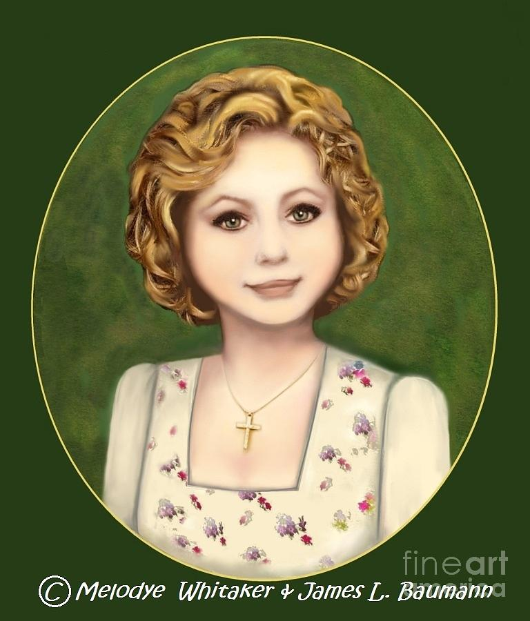 Book Over Painting - Annie Russo Portrait by Melodye Whitaker
