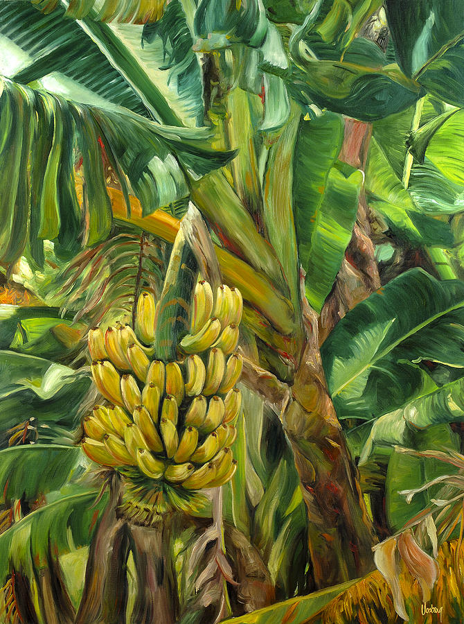 Tropical Painting - Annies Bananas by Stacy Vosberg