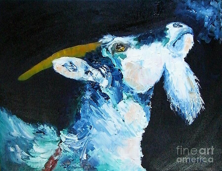 Goats Painting - Annies Prayer by Susan A Becker