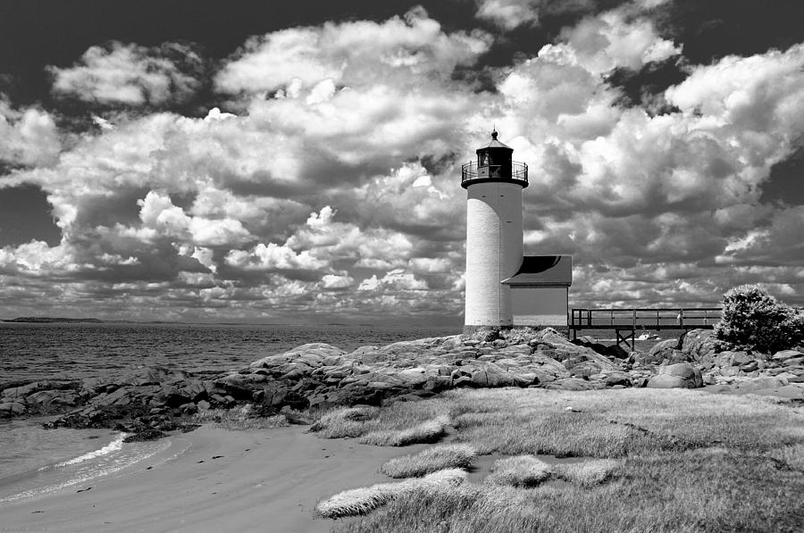 Lighthouse Photograph - Annisquam Lighthouse Infrared by Liz Mackney