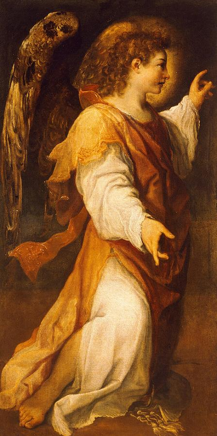 Painting Painting - Announcing Angel by Annibale Carracci